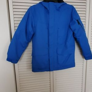 Slalom Jackets & Coats - SLALOM blue insulated windbreaker hoodie